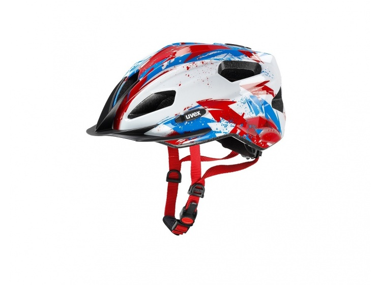 Uvex Quatro Junior White-Red 50-55cm 2015  - Uvex Quatro Junior White-Red 50-55cm 2015