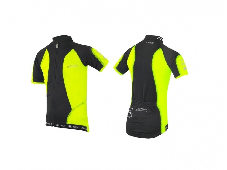 Force cyklodres Kid Star fluo  - Cyklodres Force Kid Star fluo