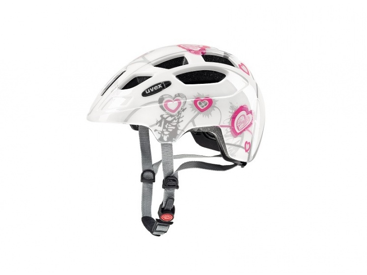 Uvex Finale Junior Heart White Pink 51-55cm 2018  - Uvex Finale Junior Heart White Pink 51-55cm 2017