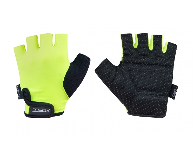 Force cyklorukavice KID fluo vel.XL  - Cyklorukavice Force KID fluo