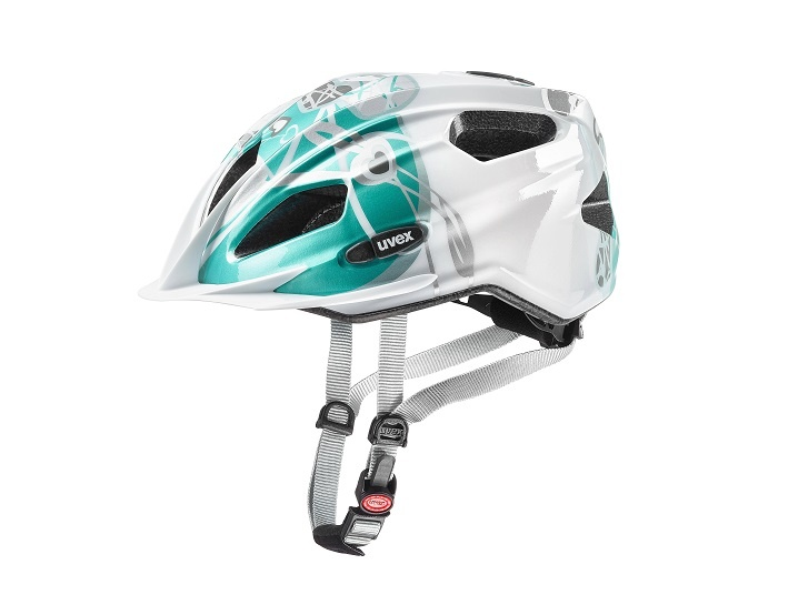 Uvex Quatro Junior White Teal 50-55cm 2019  - Uvex Quatro Junior White Teal 2019